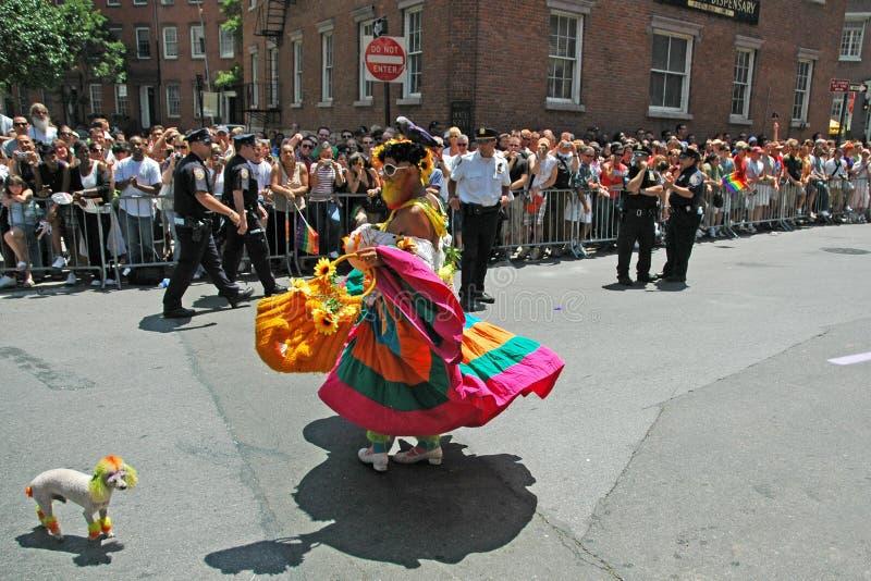 LGBT同性恋自豪日3月在曼哈顿 图库摄影