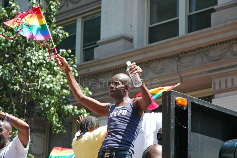 LGBT同性恋自豪日3月在曼哈顿 库存照片