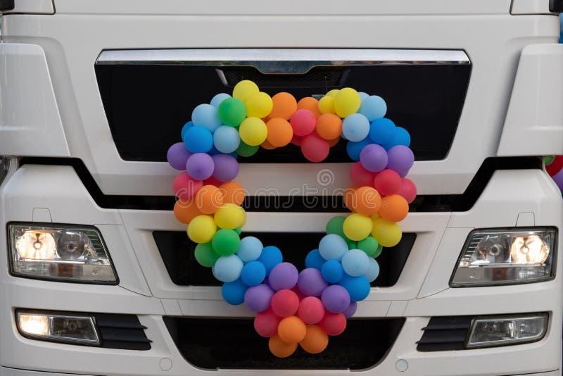 LGBT心脏装饰 图库摄影