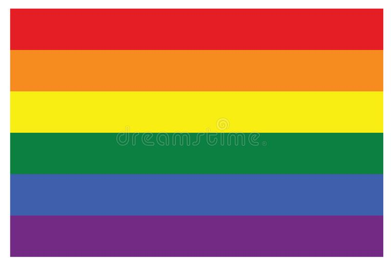 LGBT快乐彩虹标志旗子 向量例证