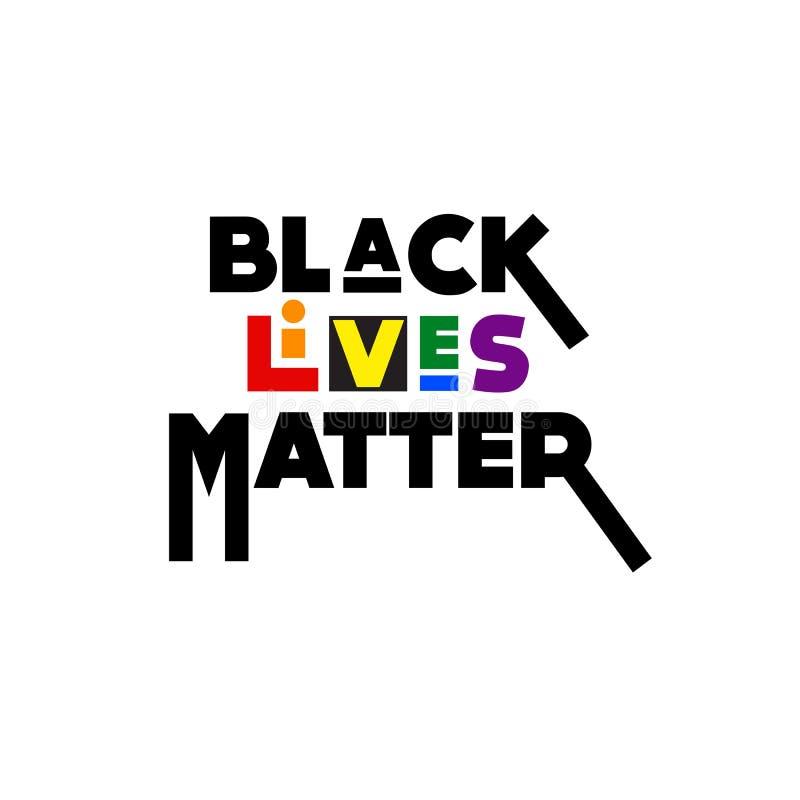LGBT支持黑生活问题运动 免版税图库摄影