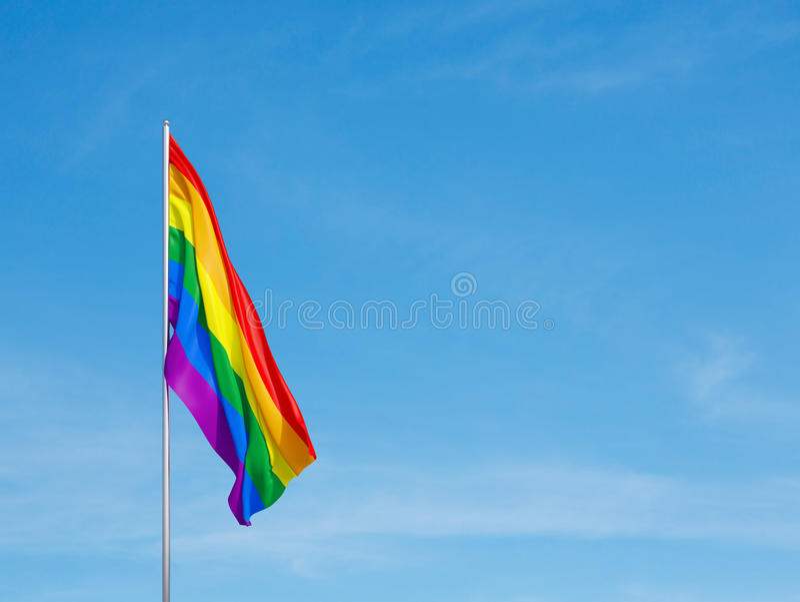 LGBT社区的旗子 免版税库存图片