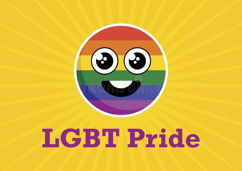 LGBT自豪感彩虹兴高采烈的象传染媒介 皇族释放例证