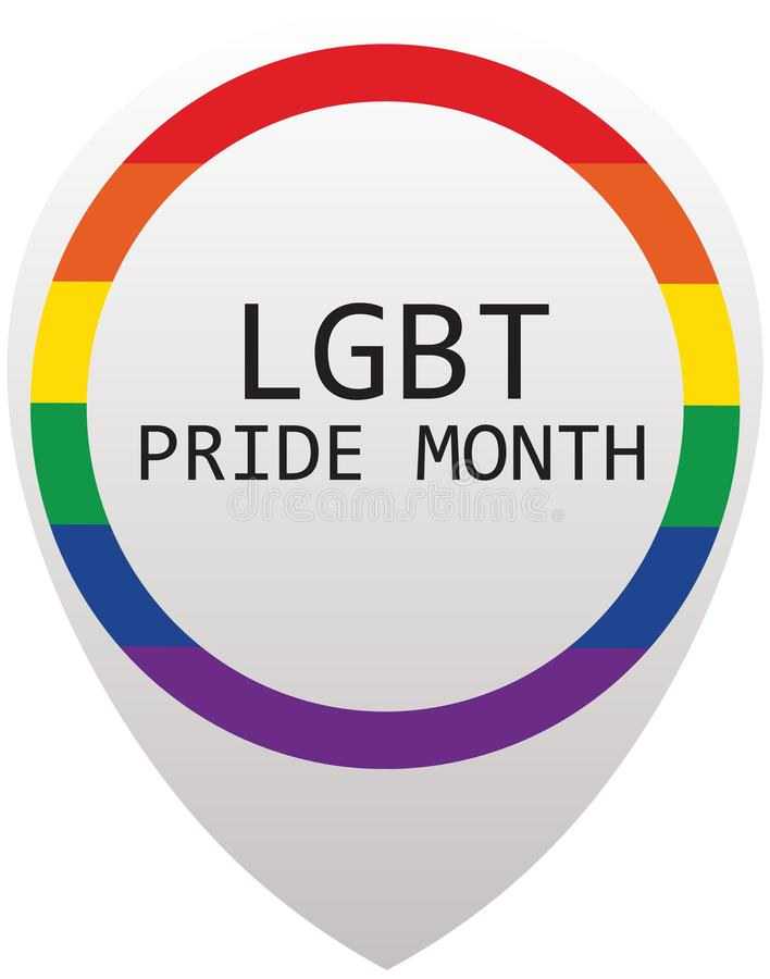 LGBT自豪感月在6月 库存例证