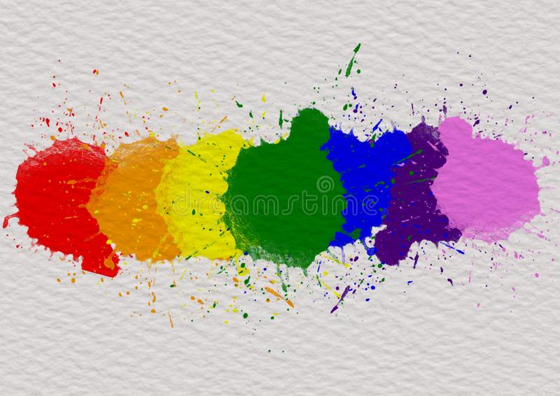 LGBT自豪感月背景概念 库存照片