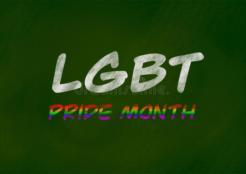 LGBT自豪感月背景概念 库存例证