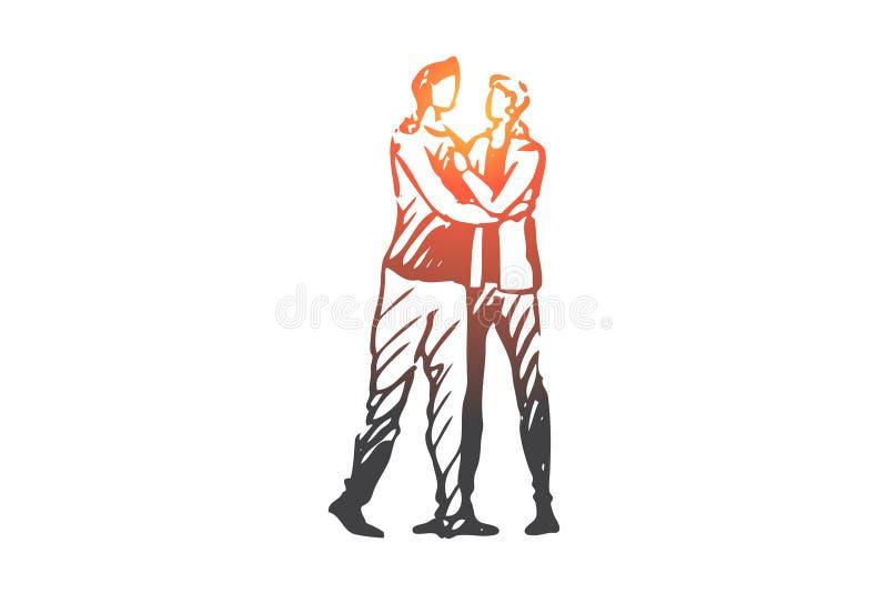 LGBT,同性恋者,夫妇,浪漫,一起概念 手拉的被隔绝的传染媒介 皇族释放例证