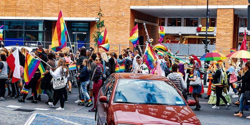 LGBT Μάρτιος στο Γντανσκ 2019 στοκ φωτογραφίες