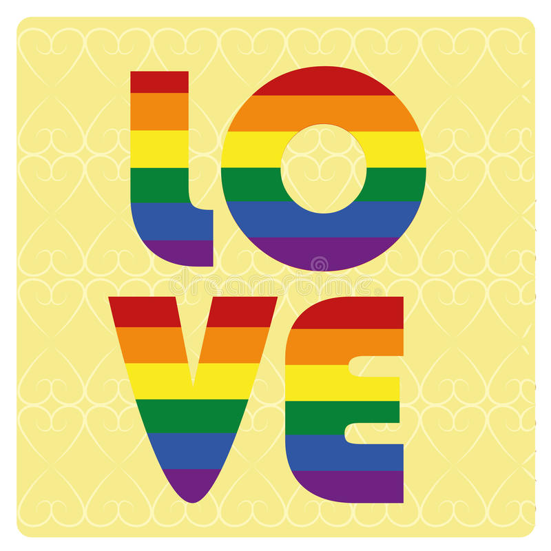 Lgbt. Some colored lgbt text in a yellow background vector illustration