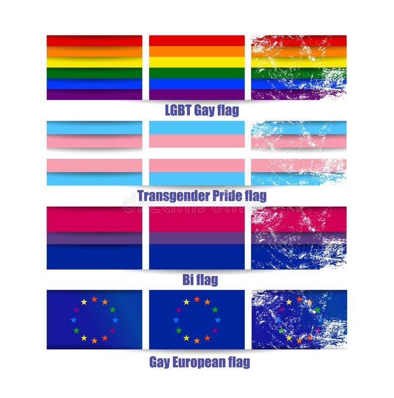 LGBT-bögen sjunker vektorn stock illustrationer