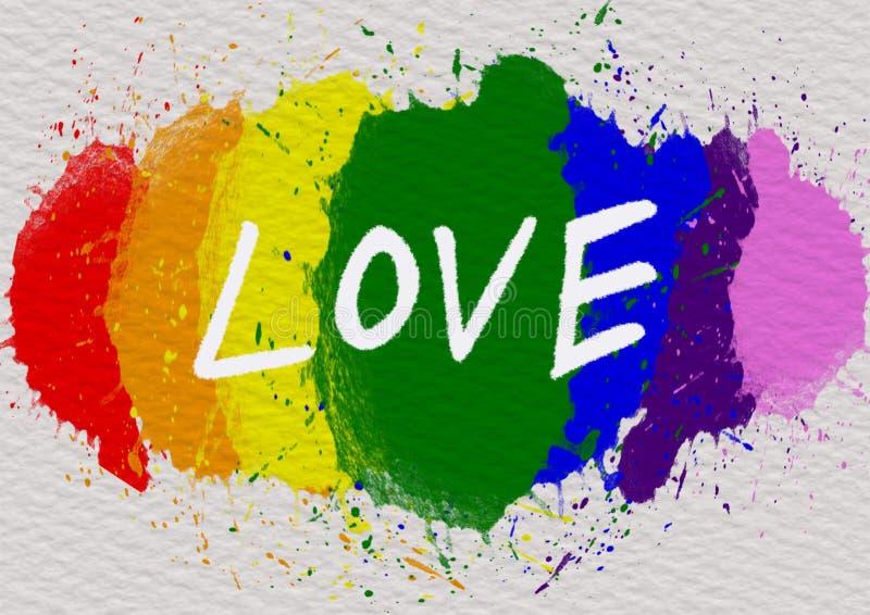 LGBT-bakgrundsbegrepp stock illustrationer