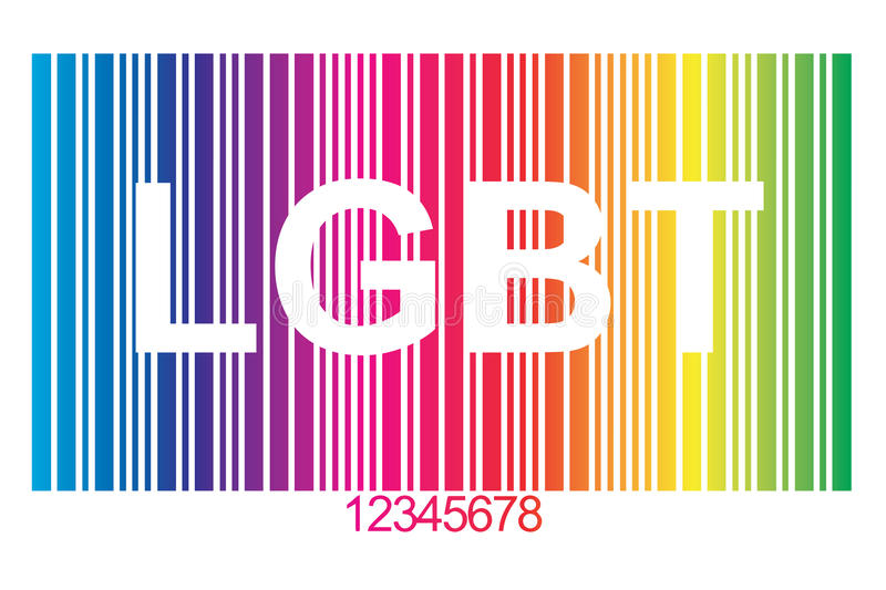 LGBT bar code. In the colors of the rainbow flag royalty free illustration