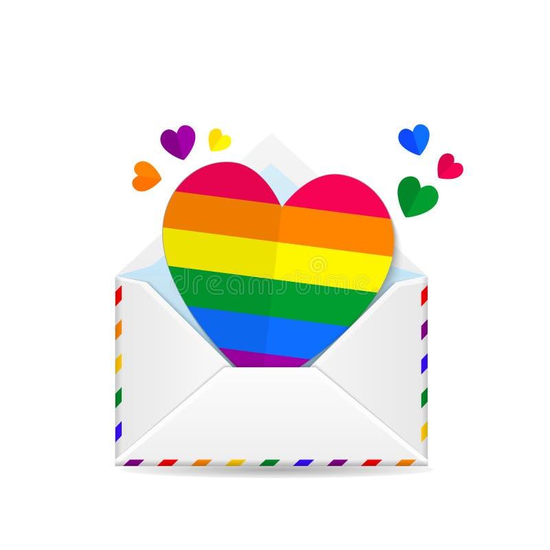 Lgbt de la tarjeta del día de San Valentín stock de ilustración