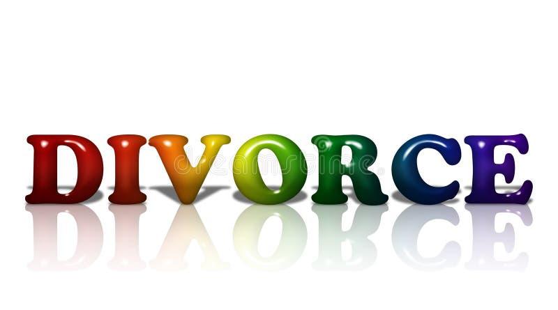 LGBT Divorce vector illustration