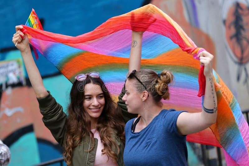 LGBT dumy parada zdjęcie stock
