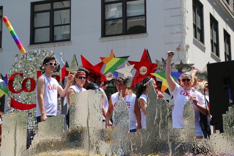 LGBT dumy parady uczestnicy w Miasto Nowy Jork zdjęcie royalty free