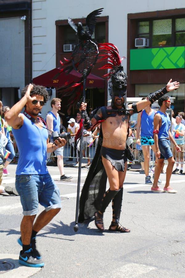 LGBT dumy parady uczestnicy w Miasto Nowy Jork fotografia royalty free
