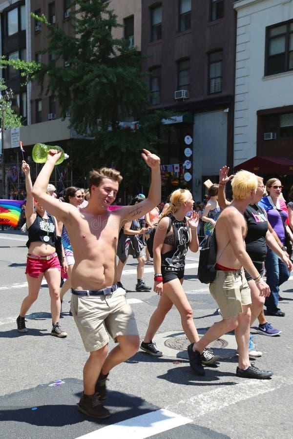 LGBT dumy parady uczestnicy w Miasto Nowy Jork obrazy royalty free