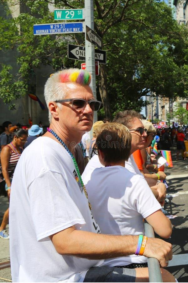 LGBT dumy parady uczestnicy w Miasto Nowy Jork fotografia stock