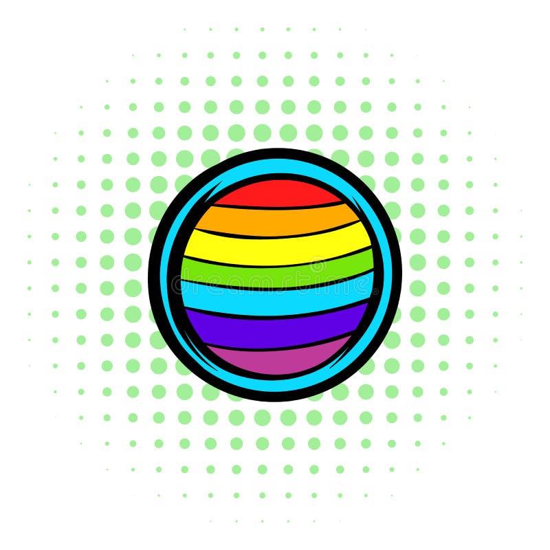LGBT-färger på knappen formar symbolen, komiker utformar vektor illustrationer