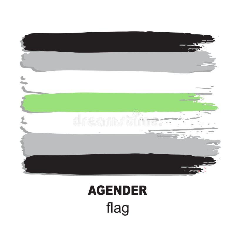 Lgbt flag-12 stock illustrationer