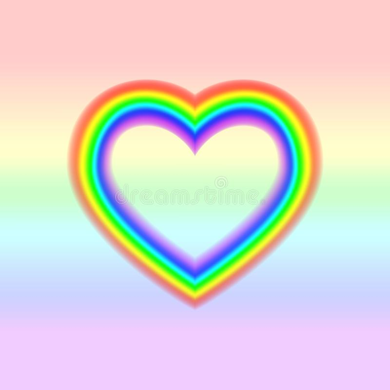 LGBT flag in heart shape. Lesbian Gay Bisexual Transgender. Rainbow love concept. Human rights and tolerance. Vector ilustration vector illustration