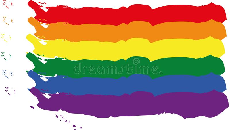 Vector image of the LGBT flag royalty free illustration