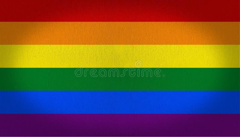 LGBT flaga royalty ilustracja