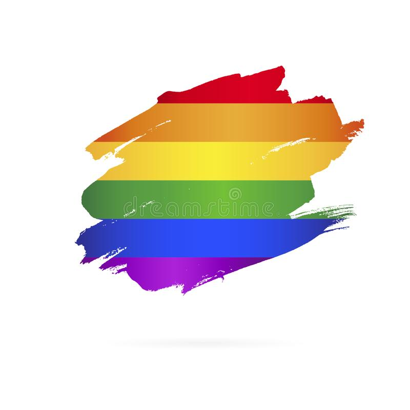 LGBT flaga Międzynarodowy symbol r?wnie? zwr?ci? corel ilustracji wektora royalty ilustracja