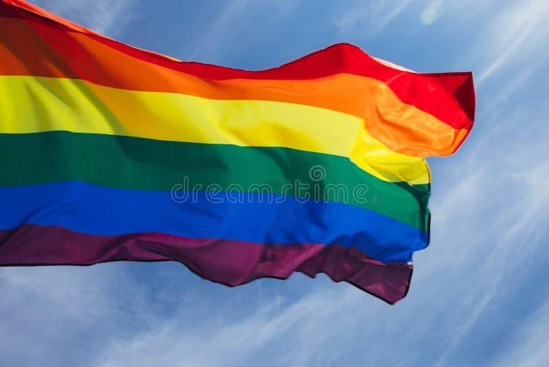 LGBT-flagga royaltyfri fotografi