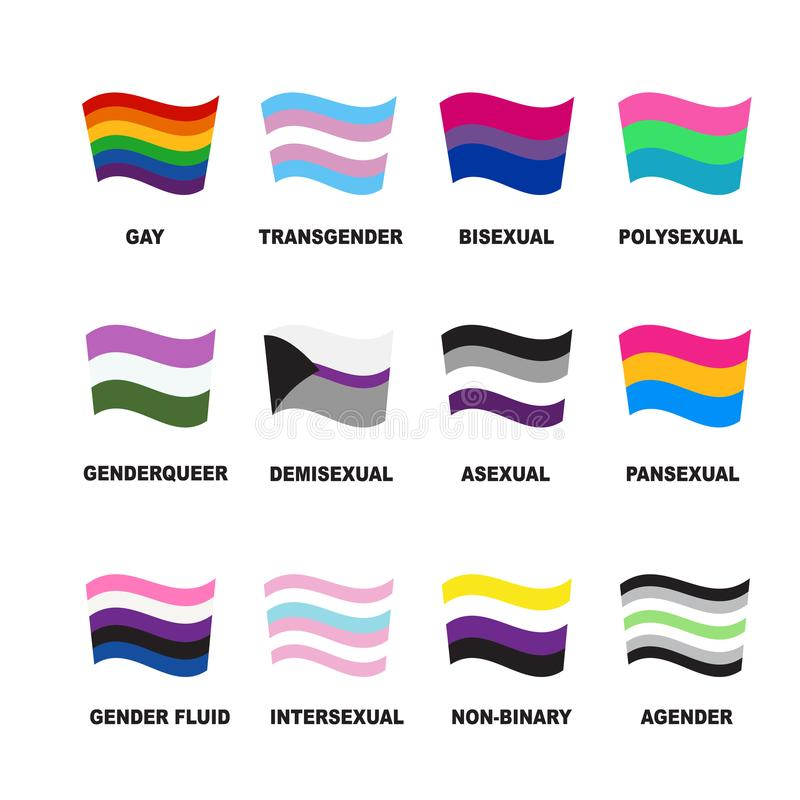Lgbt flags-15 royaltyfri illustrationer