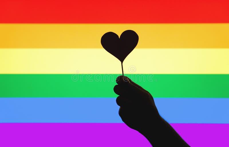 LGBT, glad stolthet, sexuell minoritet, homosexualitet och jämbördiga rätter arkivfoto