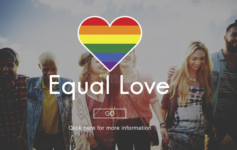 LGBT-Gleichgestelltes berichtigt Regenbogen-Symbol-Konzept stockbild
