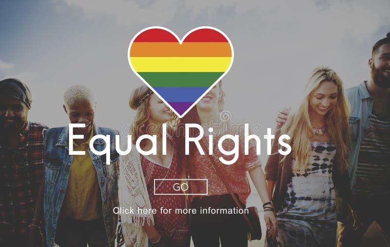 LGBT-Gleichgestelltes berichtigt Regenbogen-Symbol-Konzept stockfotos