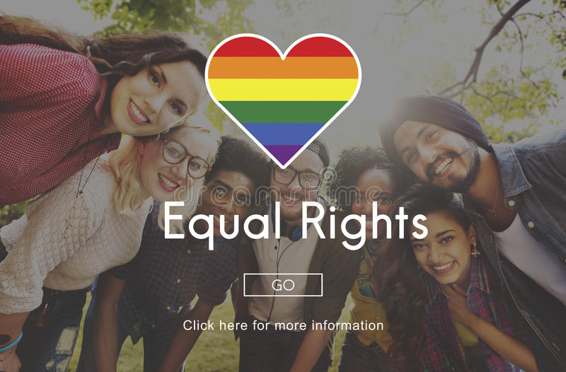 LGBT-Gleichgestelltes berichtigt Regenbogen-Symbol-Konzept stockfoto