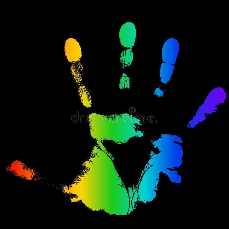 LGBT Hand vektor abbildung