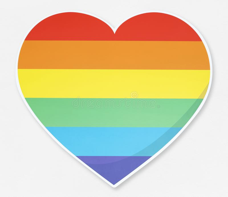 LGBT heart icon illustration royalty free stock photo