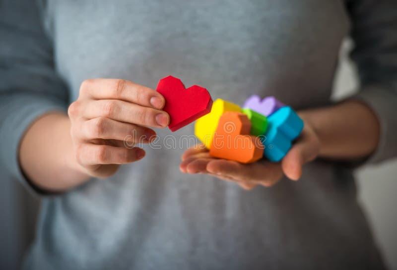 LGBT hearts stock photo