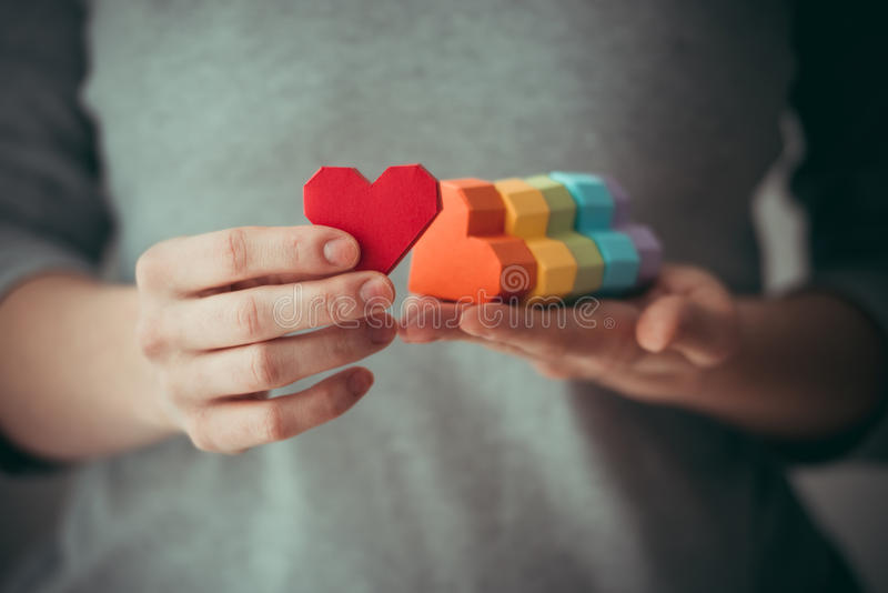 LGBT hearts stock image