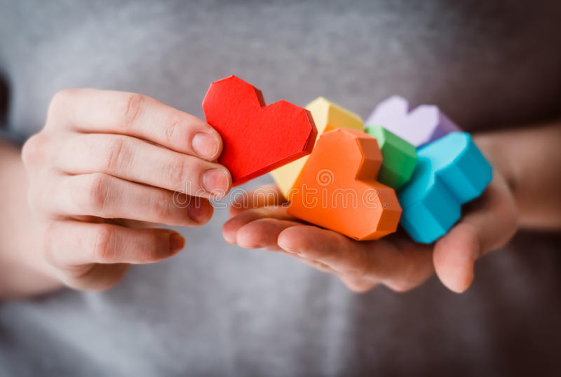 LGBT-hjärtor royaltyfria foton