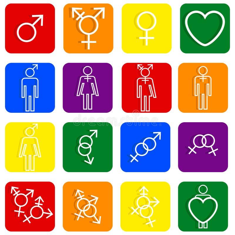 LGBT ikon różnorodne plciowe tożsamość ilustracji