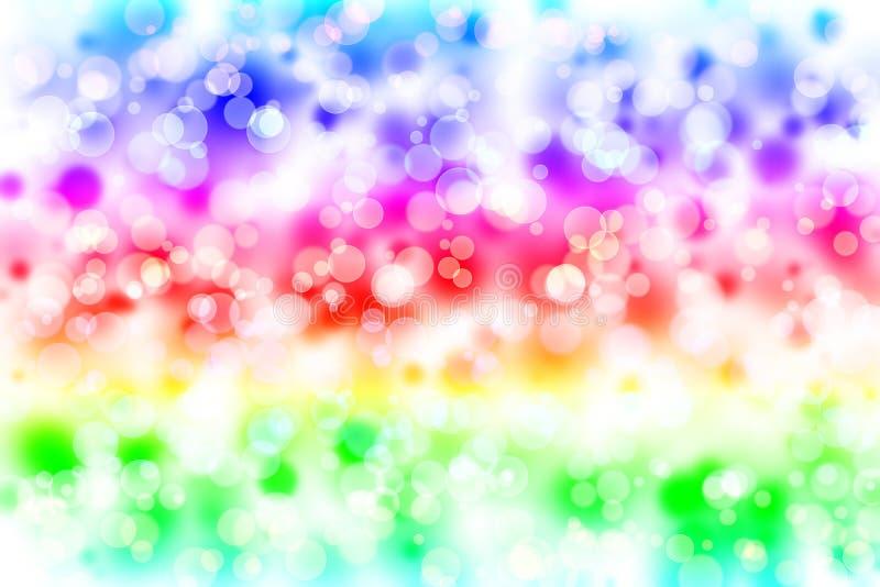LGBT-kleurenonduidelijk beeld bokeh, regenboog kleurrijke samenvatting stock illustratie