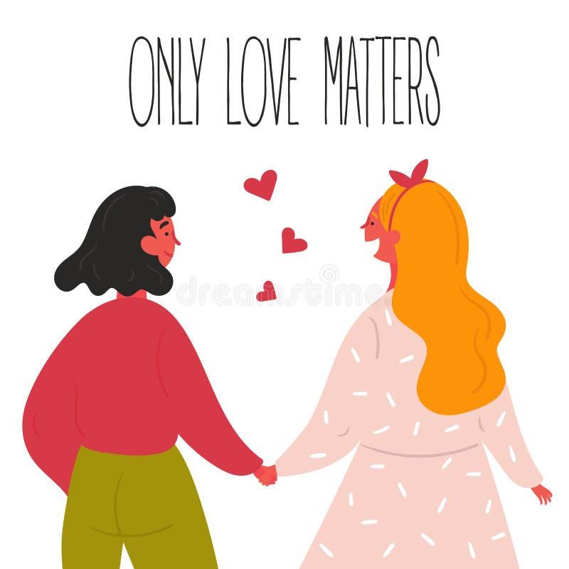 Lgbt kobiet lesbian para royalty ilustracja