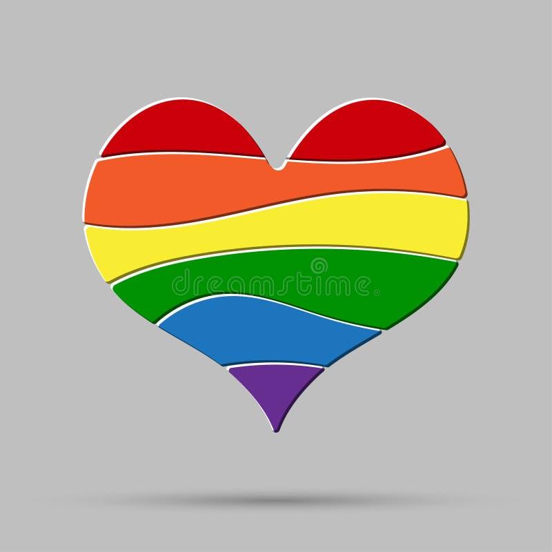 Lgbt miłości pokój, duma, homoseksualista Duma znak ilustracji