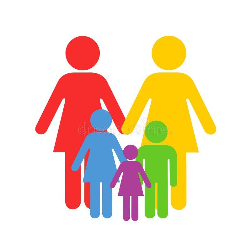 LGBT och homosexuell barnuppfostran stock illustrationer