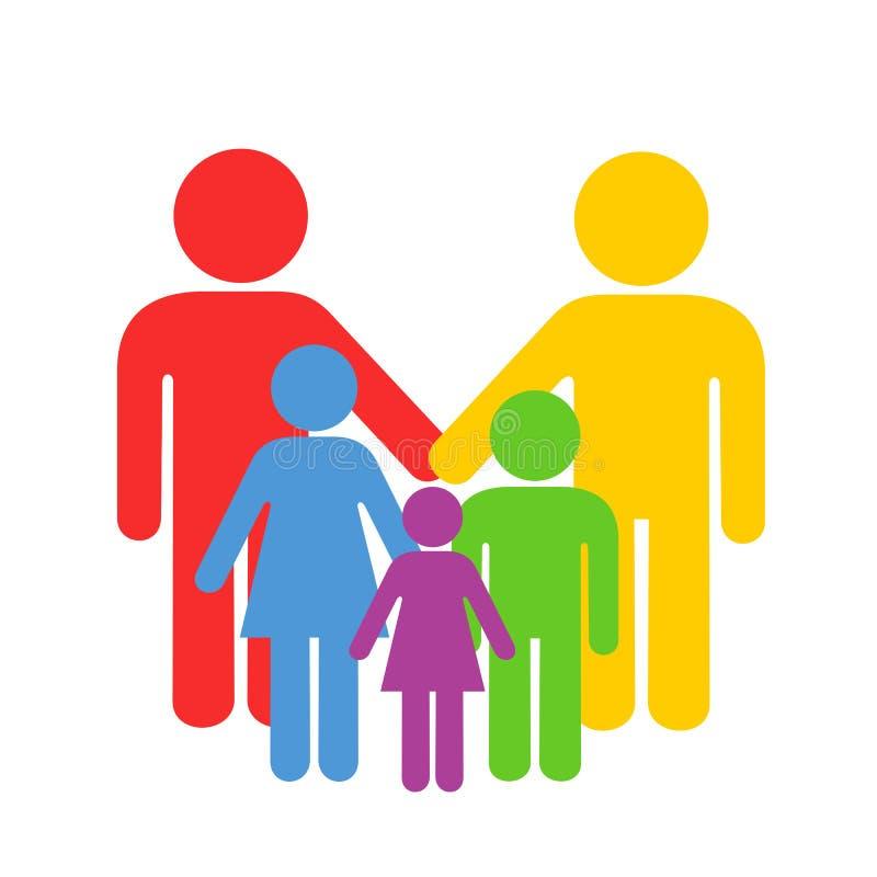 LGBT och homosexuell barnuppfostran vektor illustrationer