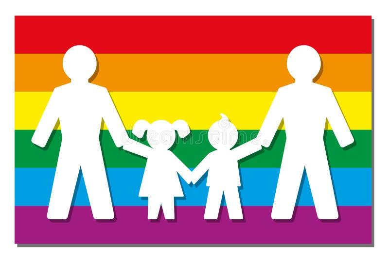LGBT-Ouders Pride Flag Icon stock illustratie