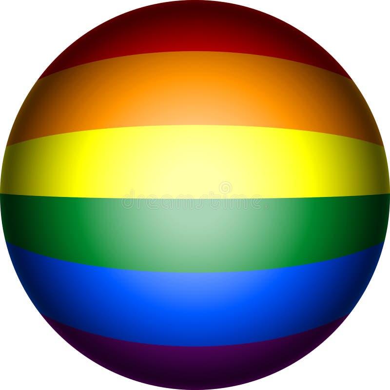 LGBT Pride Flag nel formato di vettore fotografia stock