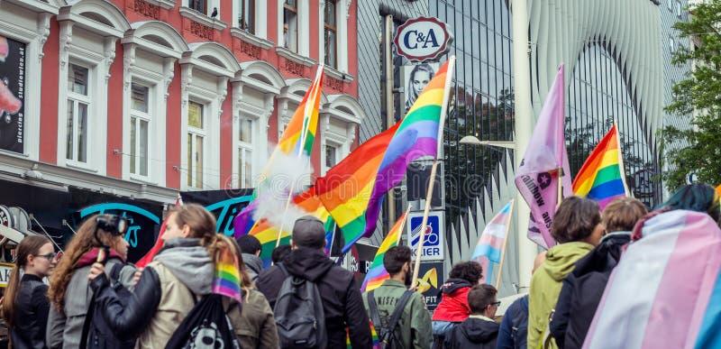 LGBT-protestmarsch arkivfoto