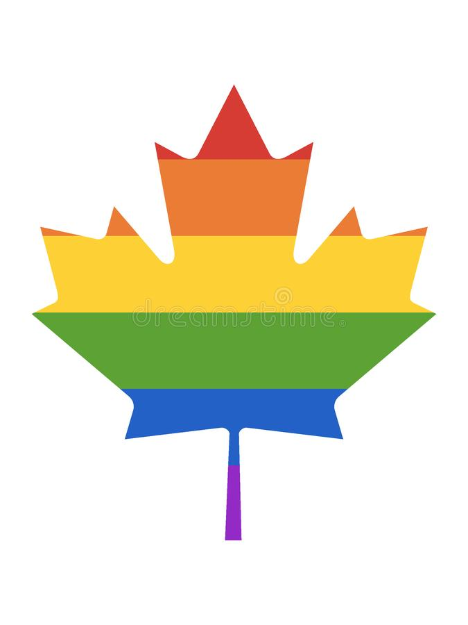 LGBT Rainbow Picture of a Maple Tree Leaf. Vector illustration of the LGBT Rainbow Picture of a Maple Tree Leaf vector illustration